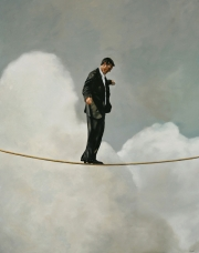 Man on a Tightrope - 48x38- 2008